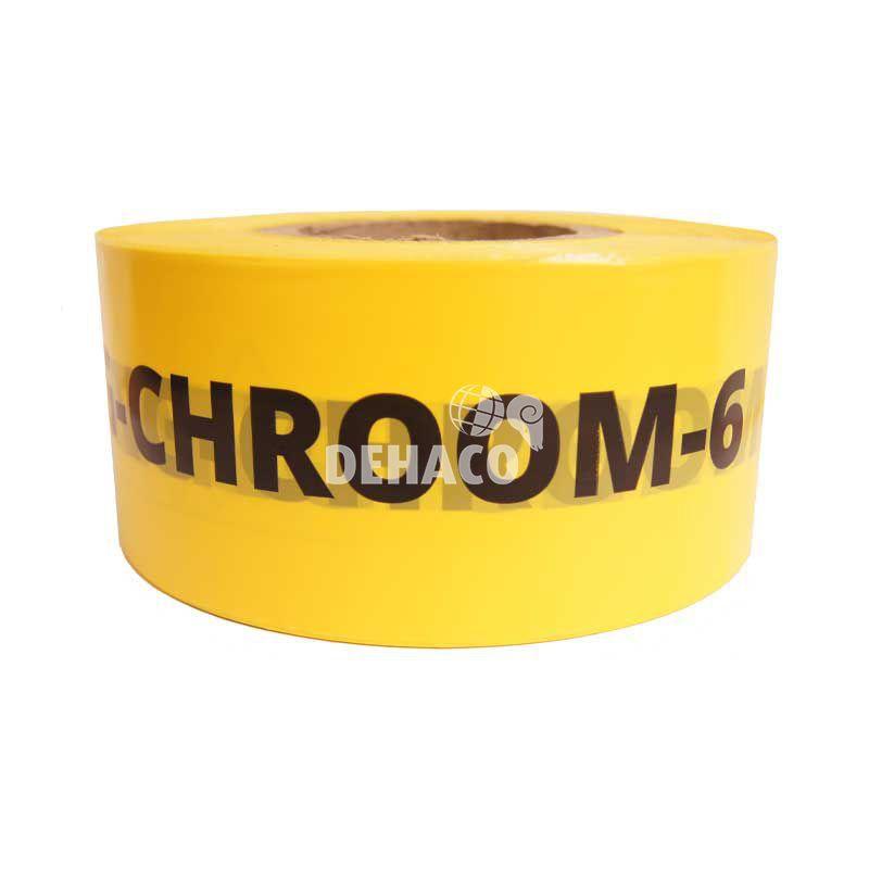 absperrband vorsicht chroom6 zutritt verboten 8 cm x 500 meter gelb nl