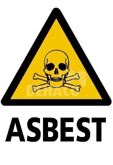absperrschild giftige stoffeasbest 33 x 32 cm