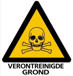Absperrschild Giftige Stoffe/Verunreinigter Boden 33 x 32 cm