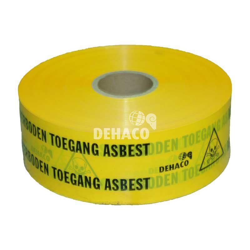 afzetlint asbest verboden toegang 10 cm x 1000 meter geel