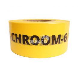 Afzetlint 'Chroom-6 - verboden toegang' 8 cm x 500 meter geel NL