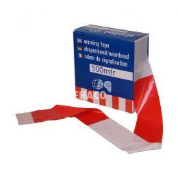 Afzetlint geblokt rood-wit 500 meter
