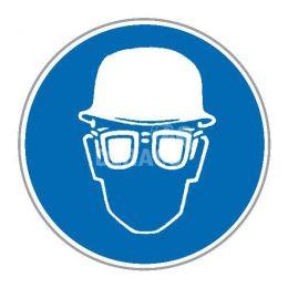 """Aufkleber """"Helm tragen"""" ø 100 mm"""