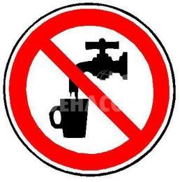 Autocollant 'Pas d'eau potable' ø 100 mm (uniquement aux Pays-Bas)