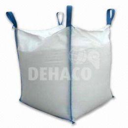 Big-Bag 90x90x110 cm blanc avec jupe et sache intérieur simple