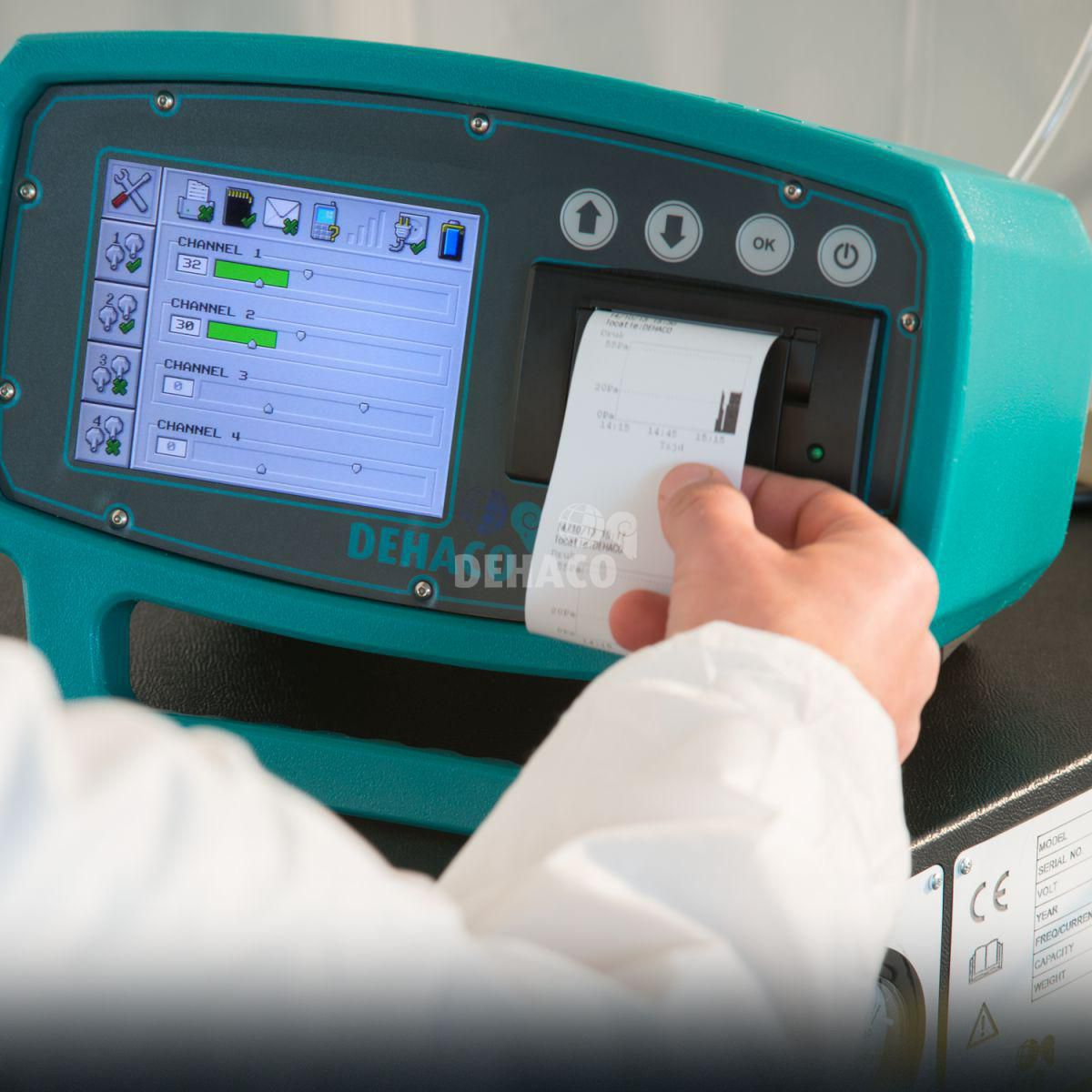 bulk air onderdrukregistratie monitor 4 kanalen