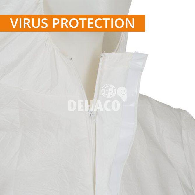 combinaison jetable 3m 4545 blanche catgorie 3 type 56 taille l protection contre les virus