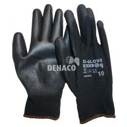D-Glove Black Handschuh PU-Handfläche Kategorie II Größe 10 pro Paar