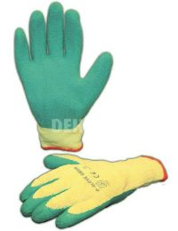 D-Glove Green gloves with latex palm category II size 10 per pair