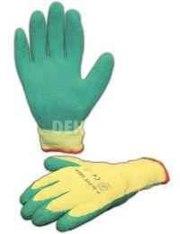 D-Glove Green Handschuh Latex-Handfläche Kategorie II