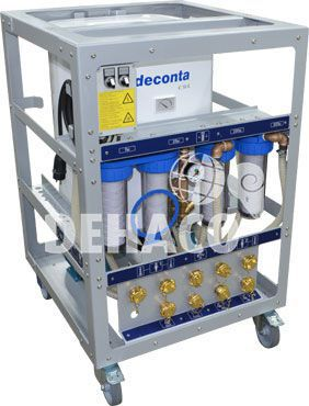 deconta c50l watermanagement 100ltr met twee douches
