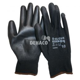 Dehaco D-Glove black handschoen met PU palm Cat.2 Mt.10
