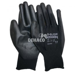 Dehaco D-Glove black handschoen met PU palm Cat.2 Mt.11