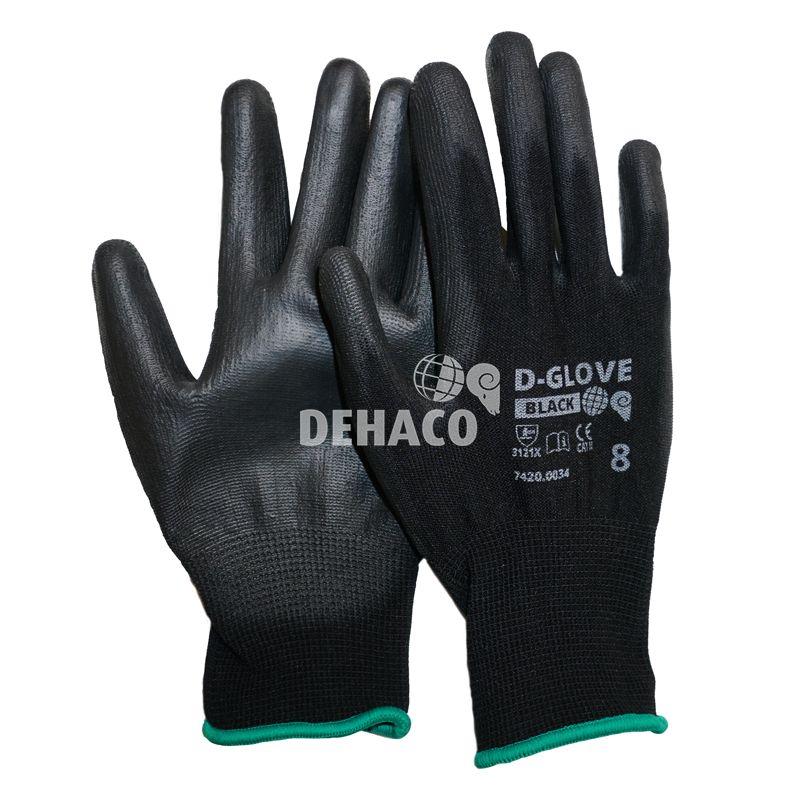 dehaco dglove black handschoen met pu palm cat2 mt8