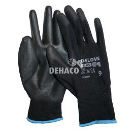 Dehaco D-Glove black handschoen met PU palm Cat.2 Mt.9