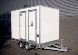 Dehaco D320 3-stage decontaminatiewagen standaard enkelasser onderstel