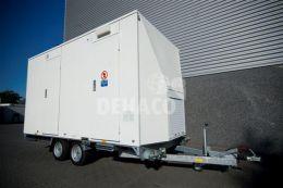 Dehaco D400 3-stage decontaminatiewagen standaard tandemasser onderstel in RAL kleur naar keuze