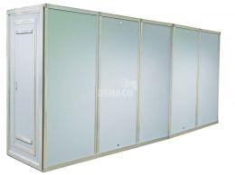 Dehaco panelendouche met 5 compartimenten 100 x 100 cm