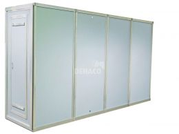 Dehaco Personnel lock system 4 stages, 100 x 100cm per cabin