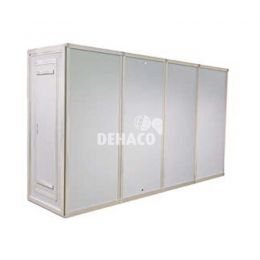Dehaco personnel lock system 4 stages 89 x 89 cm - double shower compartment