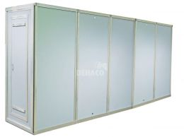 Dehaco Personnel lock system 5 stages, 100 x 100cm per cabin