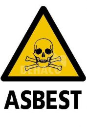 Demarcation sign Toxic substances/Asbestos 33 x 32 cm