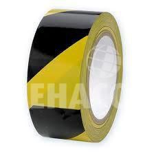 Demarcation tape chequered black-yellow 500 metres