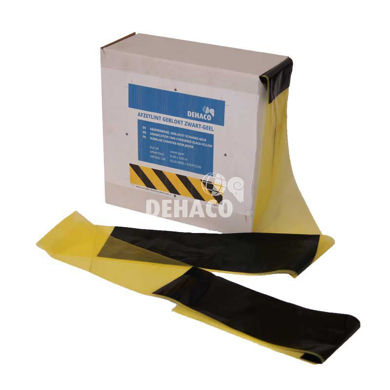 demarcation tape chequered blackyellow 500 metres