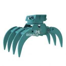 DHG1202-7T-R Hydraulische houtgrijper 7-tands met rotatie 17 - 28 ton