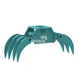 DHG150-7T-F Hydraulische houtgrijper 7-tands zonder rotatie 1,5 - 4 ton