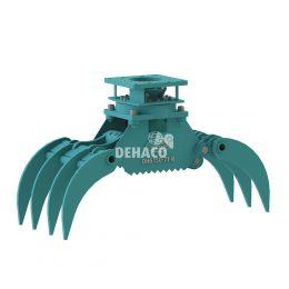 DHG150-7T-R Hydraulische houtgrijper 7-tands met rotatie 1,5 - 4 ton