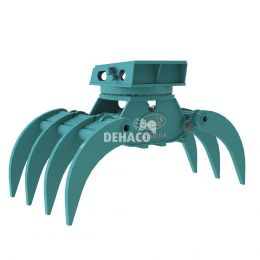 DHG1802-7T-R Hydraulische houtgrijper 7-tands met rotatie 20 - 25 ton