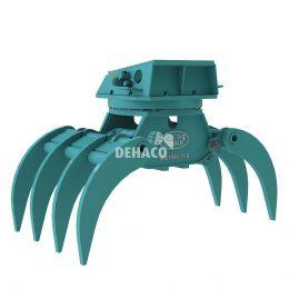 DHG1900-7T-R Hydraulische houtgrijper 7-tands met rotatie 25 - 38 ton