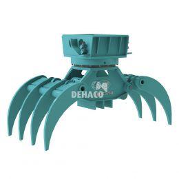 DHG452-7T-R Hydraulische houtgrijper 7-tands met rotatie 6 - 11 ton