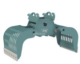DSG1102-F Sloop- en sorteergrijper zonder rotatie 16 - 25 ton