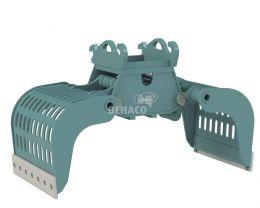 DSG502-F Sloop- en sorteergrijper zonder draaikrans 7 - 12 ton