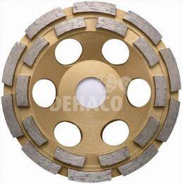 Eibenstock komschijf goud/bruin 125x22.2 mm