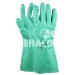 Glove Nitrile-Chem M-safe 41-200 Green size 8 Cat.2