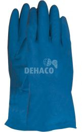 Household gloves latex blue category I Size L per pair