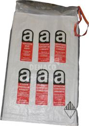 Mini asbestos bag 80x120 cm with A-logo and 2 x liner 100 mμ