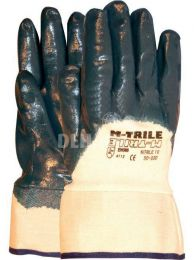 NBR M-Trile 50-030 10cm open back gloves with cuff category II size 10 per pair