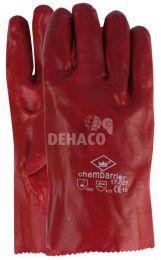 PVC glove red, length 35cm class II size 10 per pair