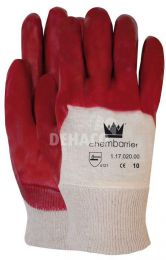 PVC glove with tricot cuff category II size 10 per pair