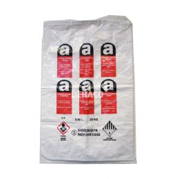 Reversed mini asbestos bag 80x120cm with A logo + 1x liner stitched