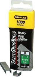 Stanley nieten 8 mm. voor handtacker per 1000 stuks
