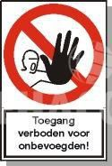 Sticker Dangerous, asbestos, do not enter 300x400 mm