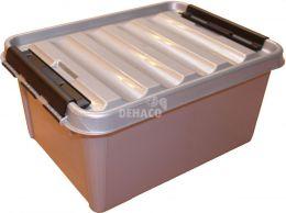 Transportbox zilver 31 liter